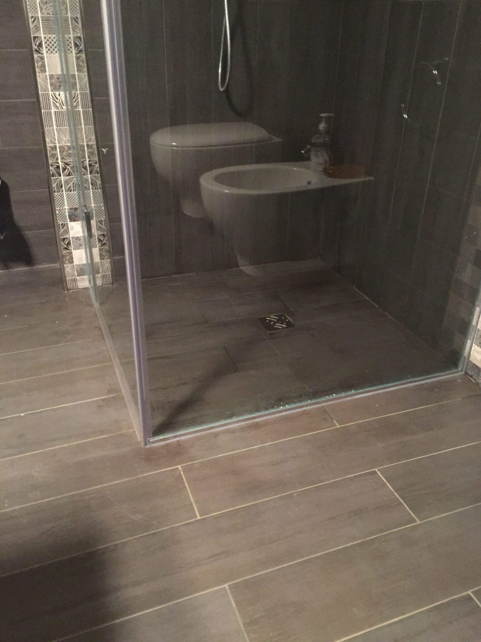 Vetreria l 39 arte nel vetro - Box doccia a filo pavimento ...